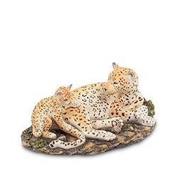 """Статуэтка """"Леопард с детенышем"""""""