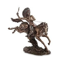 """Статуэтка """"Индеец на коне"""""""