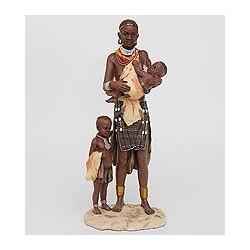 """Статуэтка """"Африканка с детьми"""""""