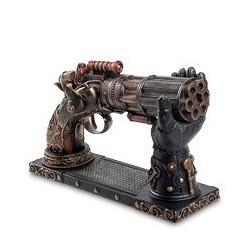 """Статуэтка в стиле Стимпанк """"Револьвер"""" на подставке"""