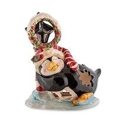 """Подсвечник """"Пингвин в танце на льду"""""""
