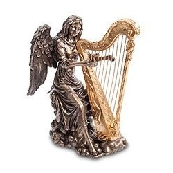 "Статуэтка ""Ангел, играющий на арфе"""