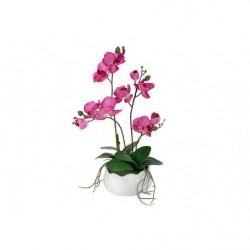 Декор.цветы Орхидея бордо в керамической вазе