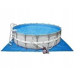 Каркасный бассейн Ultra Frame, 549х132см, 26423л, комб.фил-нас., лестн,тент,подст, наб.д/чис,вол.сет (28336)