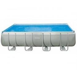 Каркасный бассейн Ultra Frame 975x488x132см, 54368л, песочный фил.-насос, лестница, тент, подстилка (28372)