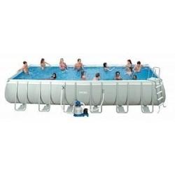Каркасный бассейн Ultra Frame 732x366x132см, 31805л, фильтр с хлорген., лест, тент, подстил, наб.д/чис, волейб. (28364)