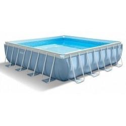 Каркасный бассейн Prism Frame 488х488х122см, 25007л ,фильтр-насос 5678л/ч, лестница, тент, подстилка (28766)