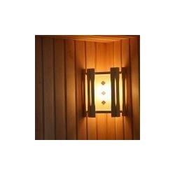 Абажур угловой 1 стекло с вставками АУ1-1СВ