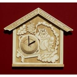 Часы - панно «Бане время, потехе час»