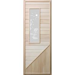 Дверь деревянная со стеклянной вставкой Прямоугольное