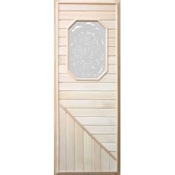 Дверь деревянная со стеклянной вставкой Восьмиугольное