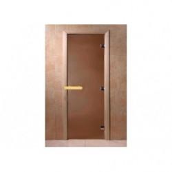 Дверь для саун Бронза матовая 700 х 1900 коробка хвоя 2 петли 6 мм СПЕЦЦЕНА