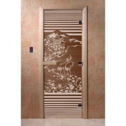 Дверь для саун Япония бронза 800 х 2000