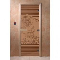 Дверь для саун Япония бронза матовое 700 х 1900