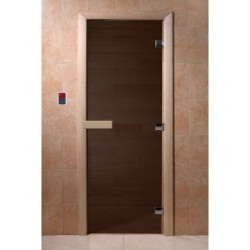 Дверь для саун Черный жемчуг матовое 700 х 1900