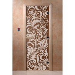 Дверь для саун Хохлома бронза матовое 700 х 1900