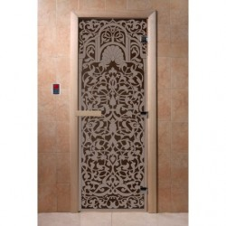 Дверь для саун Флоренция черный жемчуг 800 х 2000