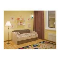 Детская кровать с выкатными ящиками