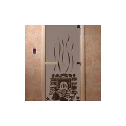 Дверь для саун «Банька» черный жемчуг матовое 800х2000 мм