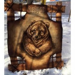 """Панно """"Медведь"""" монохромное 15 01 10"""