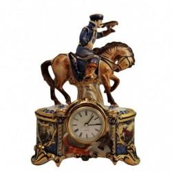 """Часы """"Соколиная охота"""" краски в золоте арт. 3/3504"""