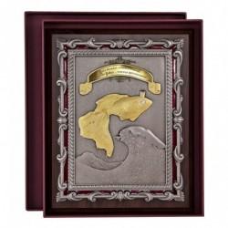 """Плакетка """"Золотая рыбка"""" в золоте арт. ПЛШ-124VIPК-ОЗ"""