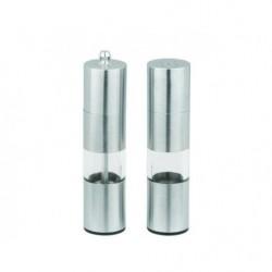 Перцемолка+солонка Лазурит сталь+акрил 16,5 см