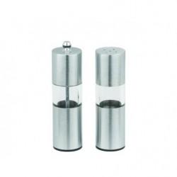 Перцемолка+солонка Лазурит сталь+акрил 14 см