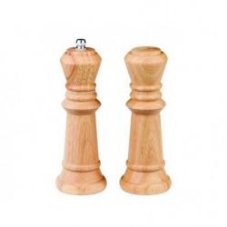 Перцемолка+солонка Шахматы светлое дерево 17 см
