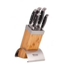 Mexico Набор 5 кованых ножей в деревянной подставке