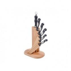 IDEAL Набор 5 ножей+мусат на подставке 'Веер'