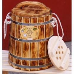 Кадка кедр обожженная 20 литров с крышкой и гнетом