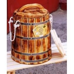 Кадка кедр обожженная 5 литров с крышкой и гнетом