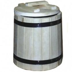 Кадка берёза 20 литров с крышкой