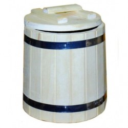 Кадка осина 15 литров с крышкой