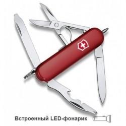 НОЖ-БРЕЛОК VICTORINOX CLASSIC MIDNITE MANAGER, 58 ММ, 10 ФУНК, КРАСНЫЙ