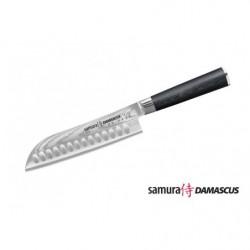 Нож кухонный стальной Сантоку Samura Damascus SD-0094/G-10