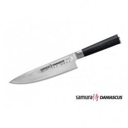 Нож кухонный стальной Шеф Samura Damascus SD-0085/G-10