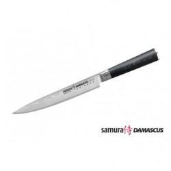 Нож кухонный стальной для нарезки, слайсер Samura Damascus SD-0045/G-10