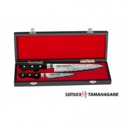 ST-0210/G-10 Набор из 2 ножей Samura TAMAHAGANE в подарочной коробке, G-10
