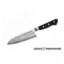 Нож кухонный стальной Сантоку Samura Tamahagane ST-0095