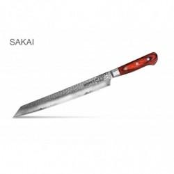 "SJS-0044 Кухонный нож ""Samura Sakai"" янагиба (Yanagiba) с деревянной рукоятью 270 мм 60 HRC"