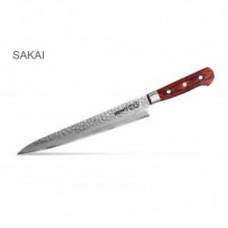 "SJS-0045 Кухонный нож ""Samura Sakai"" слайсер (Slicing Knife) с деревянной рукоятью 240 мм 60 HRC"