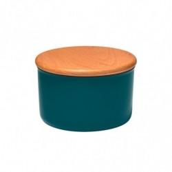 Банка Emile Henry для хранения сыпучих продуктов (цвет:серо-голубой) 0,5 л.