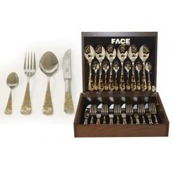 Набор столовых приборов 24 предмета на 6 персон Ankara в деревянной коробке