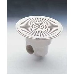 Донный слив пласт 13м3/ч круглый Д.270 мм бок 2