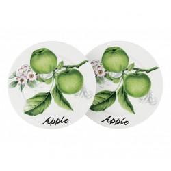 """Набор 2 тарелки """"Зеленые яблоки"""""""