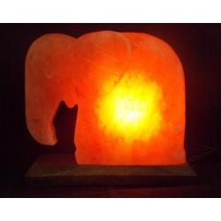 Декор- обработ. соляная лампа Слон с диммером