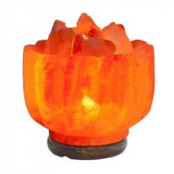 Декор- обработ. соляная лампа Ваза с камнями