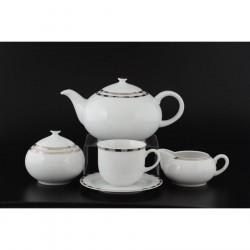 Чайный сервиз Опал Платиновые пластинки 17пр